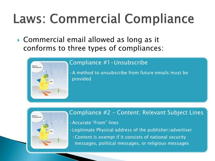 Laws: Commercial Compliance