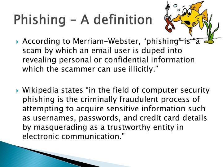 Phishing a definition