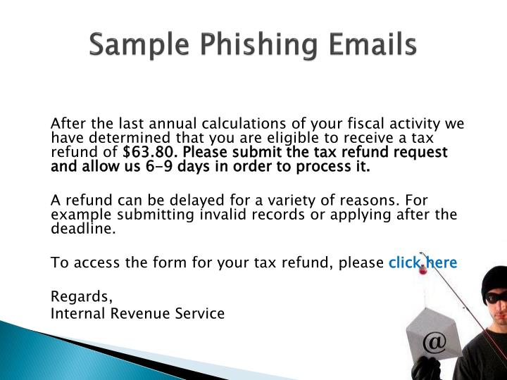 Sample Phishing Emails