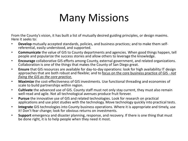 Many Missions