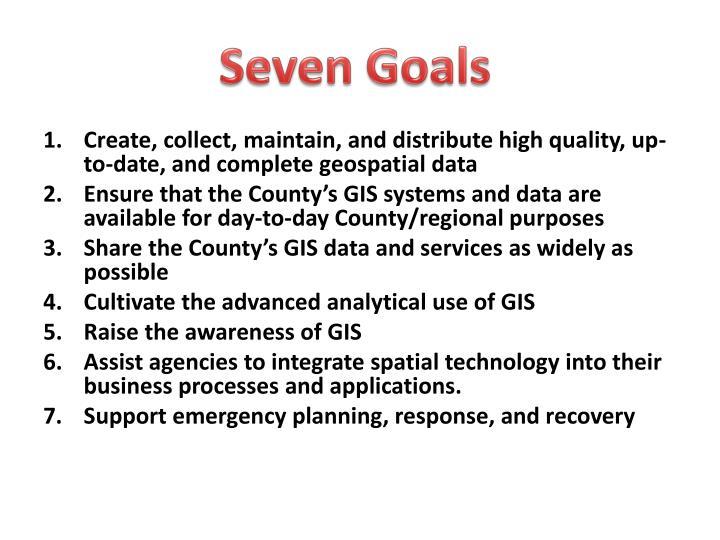 Seven Goals