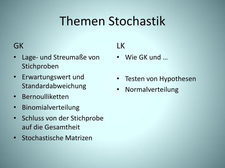Themen Stochastik