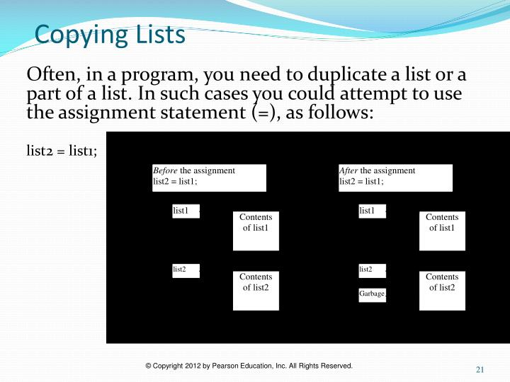Copying Lists