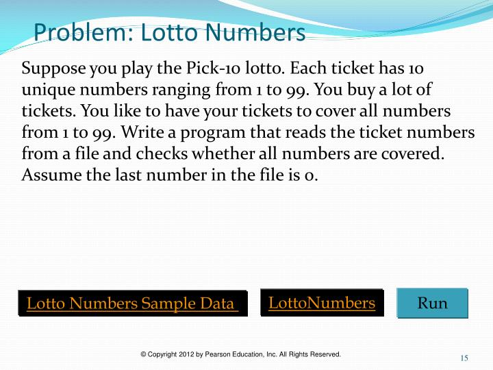Problem: Lotto Numbers