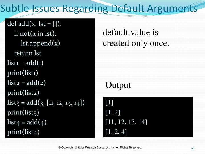 Subtle Issues Regarding Default Arguments