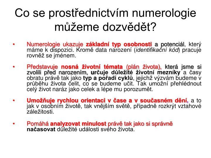 Co se prostřednictvím numerologie můžeme dozvědět?
