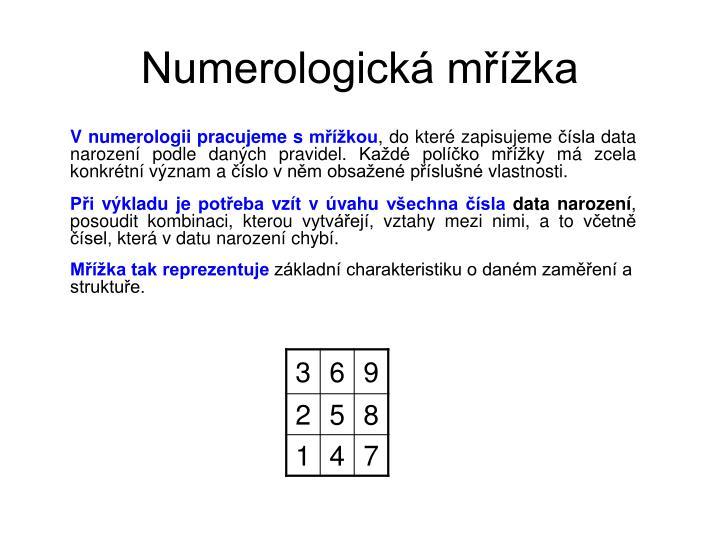 Numerologická mřížka