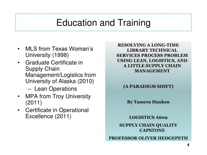 MLS from Texas Woman's University (1998)