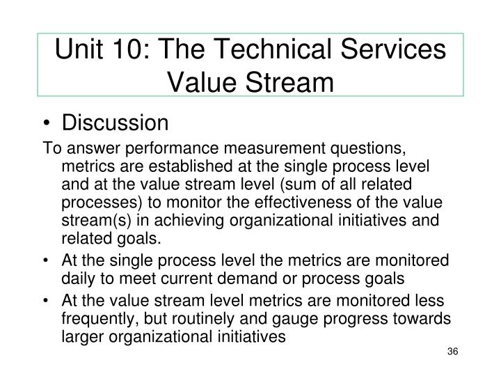 Unit 10: The Technical Services Value Stream