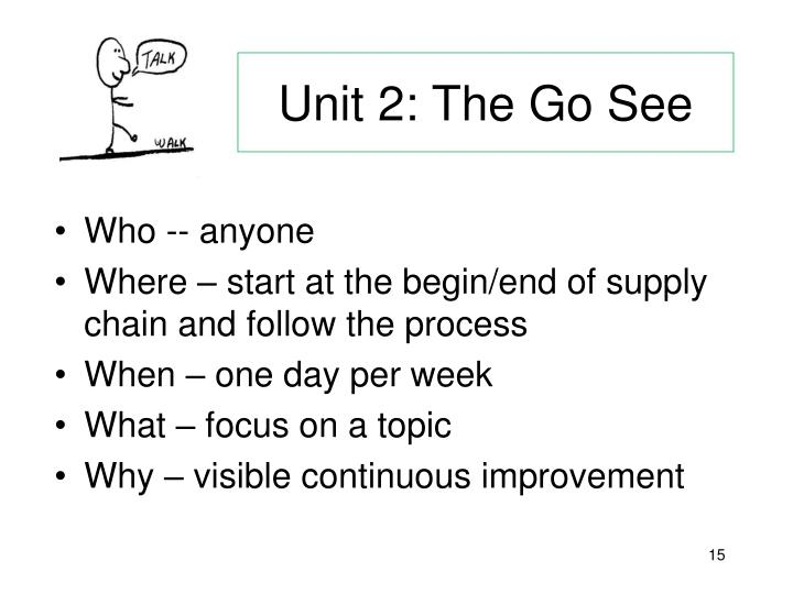 Unit 2: The Go See