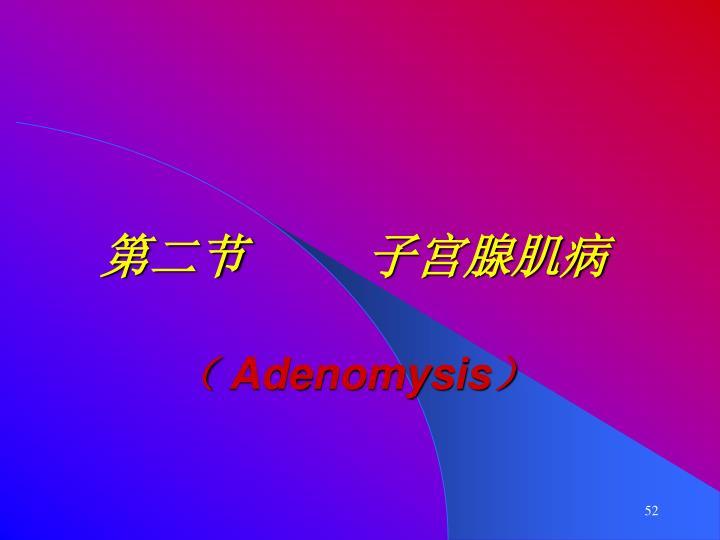 第二节     子宫腺肌病