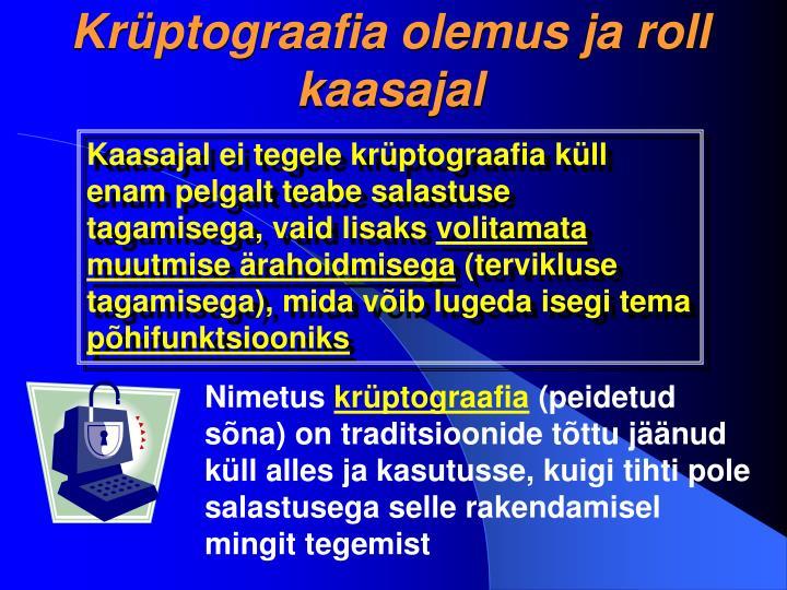 Krüptograafia olemus