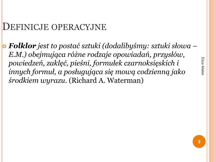 Definicje operacyjne