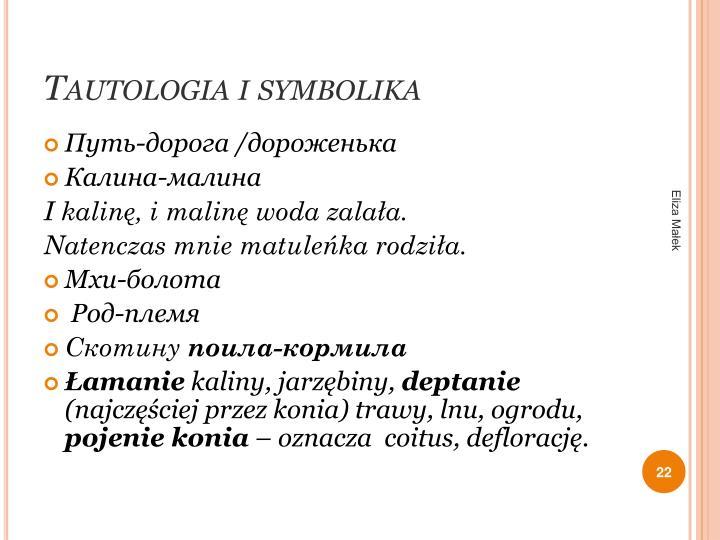 Tautologia i symbolika