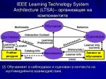 ieee learning technology system architecture ltsa2