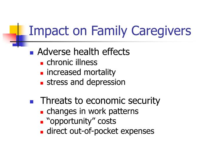 Impact on Family Caregivers