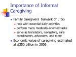importance of informal caregiving