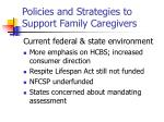 policies and strategies to support family caregivers