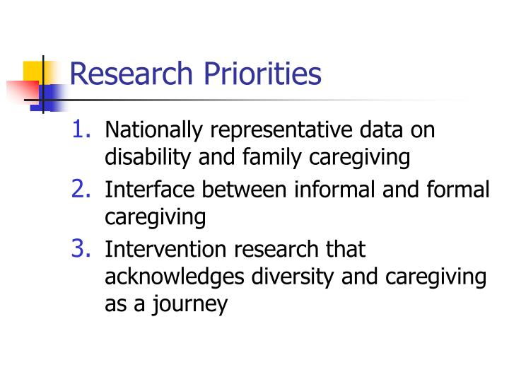Research Priorities