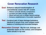 cover renovation research