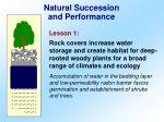 natural succession and performance