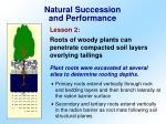 natural succession and performance1