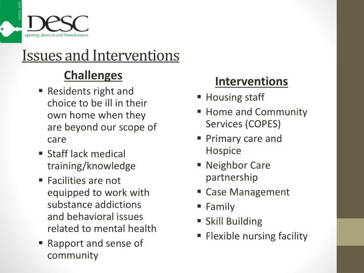 Issues and Interventions