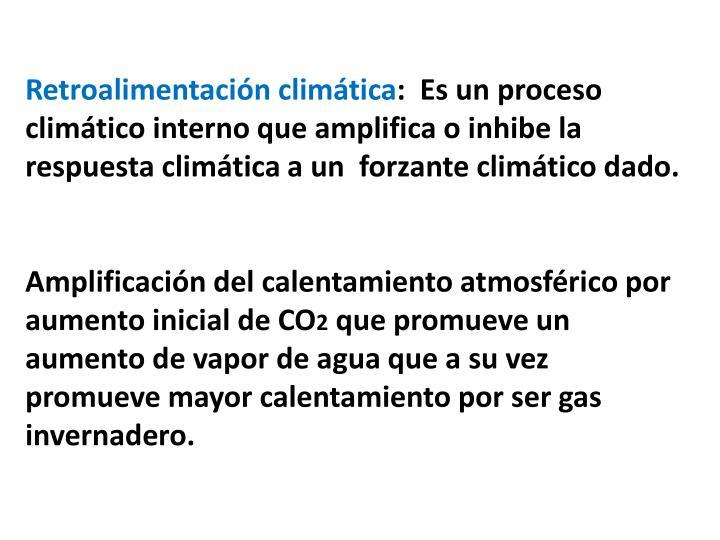 Retroalimentación climática