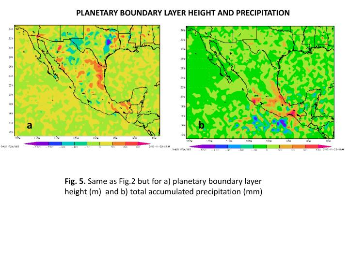 PLANETARY BOUNDARY LAYER HEIGHT AND PRECIPITATION
