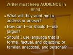 writer must keep audience in mind1