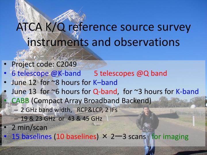 ATCA K/Q reference source survey