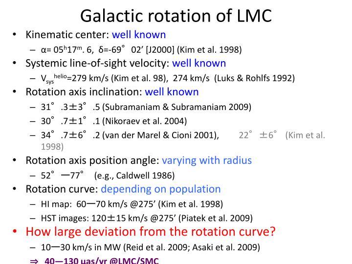 Galactic rotation of LMC