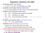 galactic rotation of lmc