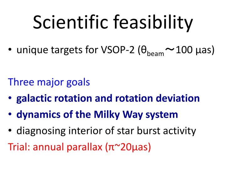 Scientific feasibility