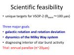 scientific feasibility