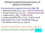 solving fundamental parameters of galactic kinematics