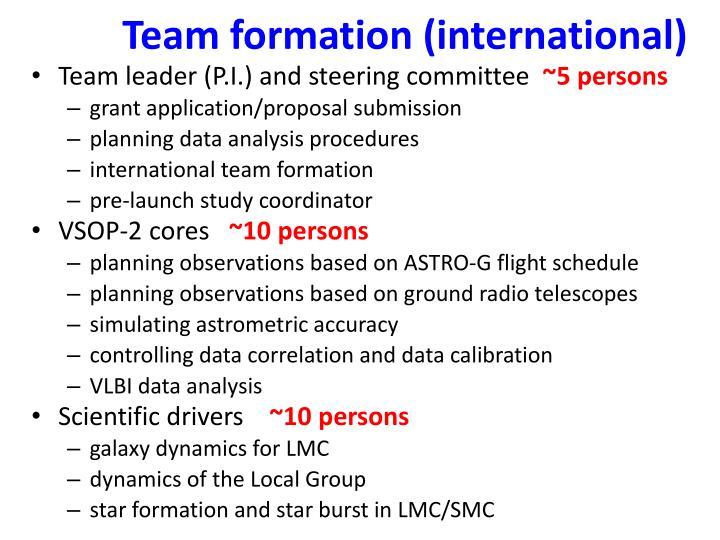 Team formation (international)
