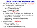 team formation international