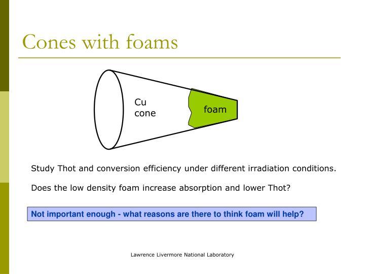 Cones with foams
