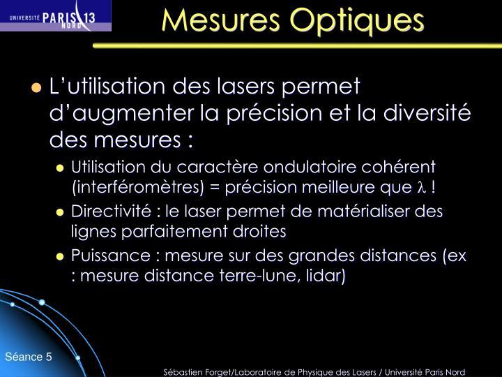 Mesures Optiques