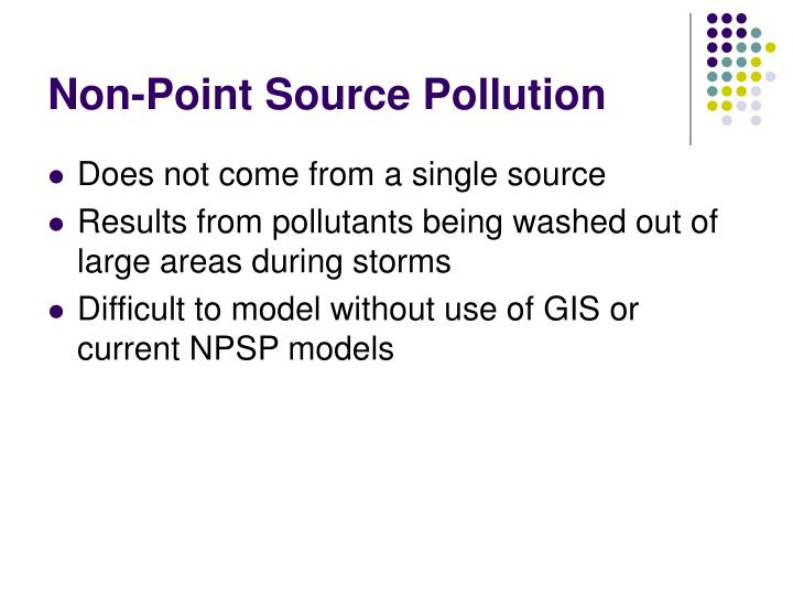 Non point source pollution