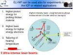 eli np can be used also for experiments in the icf or related applications