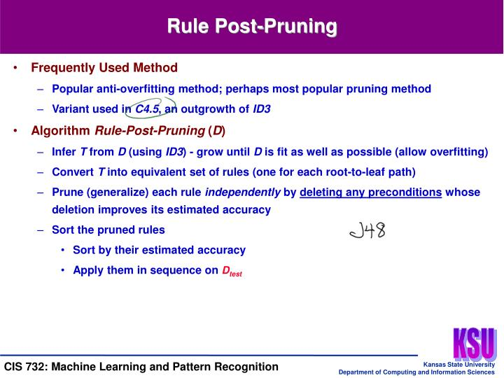 Rule Post-Pruning