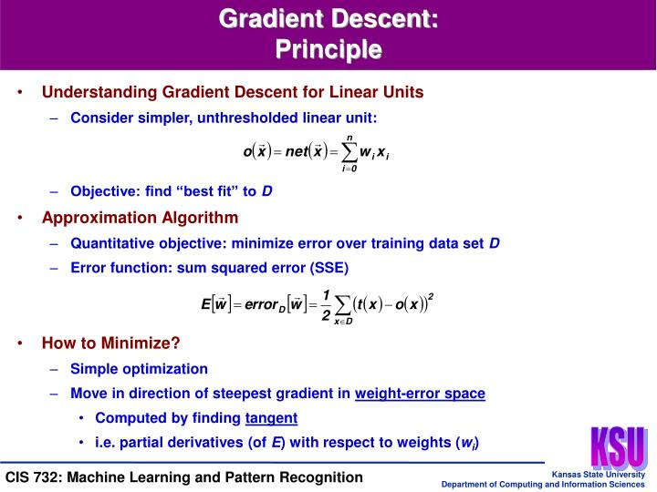 Understanding Gradient Descent for Linear Units