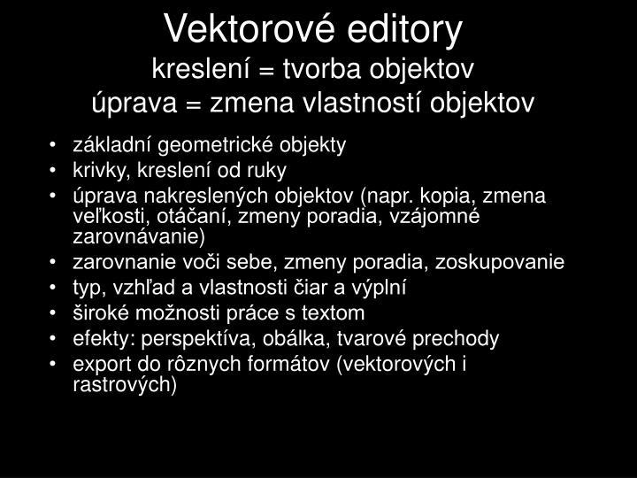 Vektorové editory