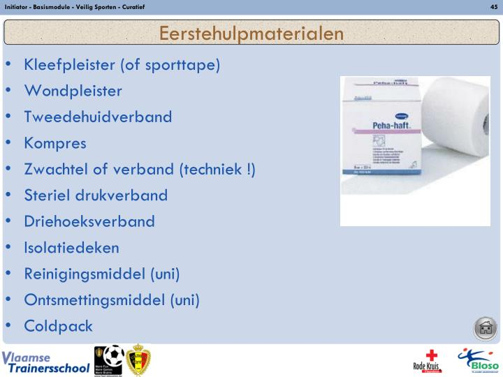 Initiator - Basismodule - Veilig Sporten - Curatief