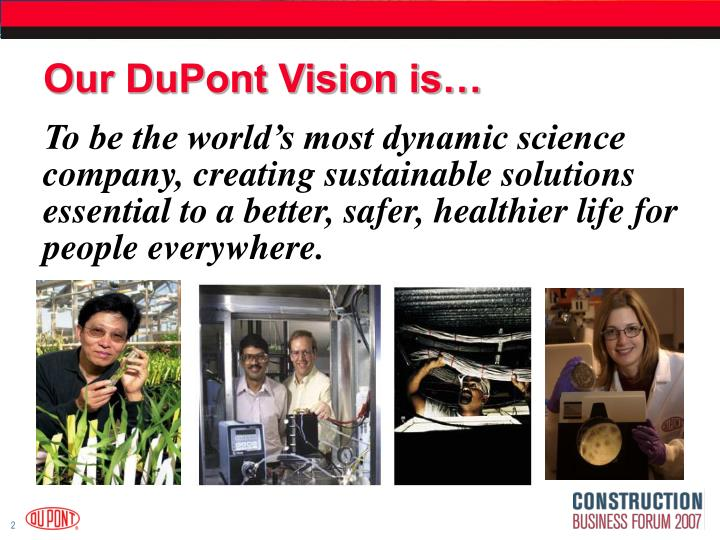 Our dupont vision is