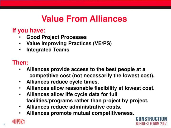 Value From Alliances