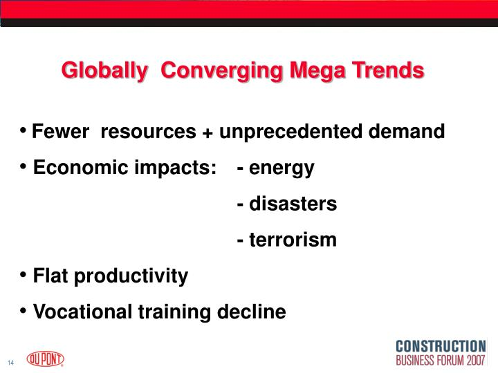 Globally  Converging Mega Trends