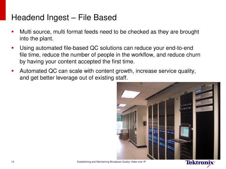 Headend Ingest – File Based
